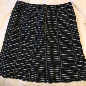 3/$40- Per Se A-Line Patterned Skirt (Size 0)